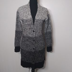 Ann Taylor Marled Cardigan Sweater Color Block